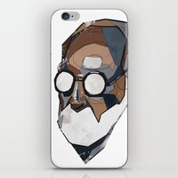 freud iPhone & iPod Skins featuring Freud by PAFF