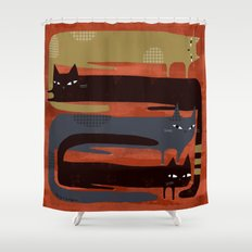 CAT QUAD Shower Curtain