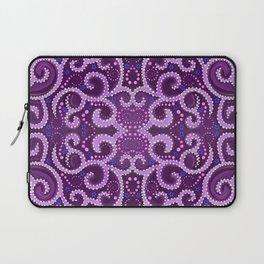 Symmetrical Purple Dotted Swirls Laptop Sleeve