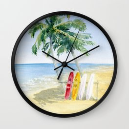 Tropical View Wall Clock