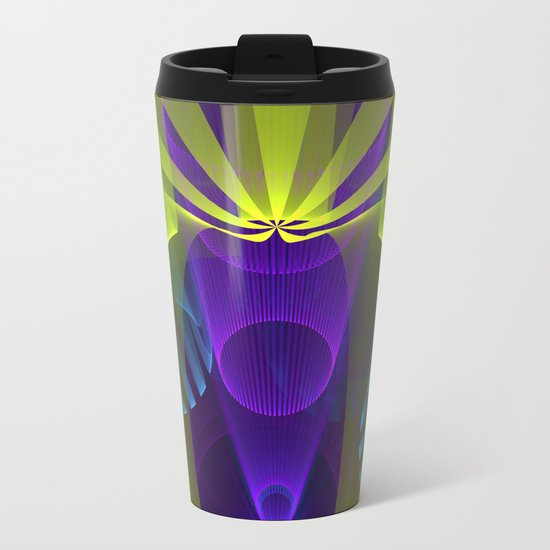 Modern abstract in 3-d Metal Travel Mug