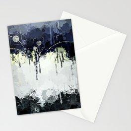 Modern Indigo Eclipse Abstract Design Stationery Cards