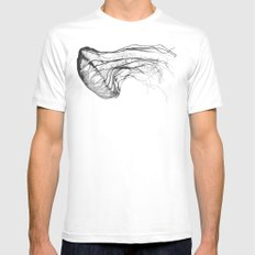 Medusozoa LARGE White Mens Fitted Tee