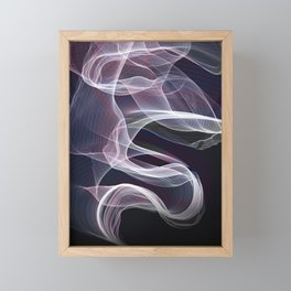 Moody & Beautiful Smoky lacy flux - black, blue, pink #abstractart Framed Mini Art Print