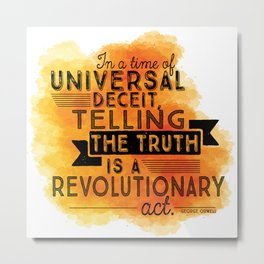 Revolutionary Act - quote design Metal Print