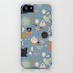Lunar Pattern: Blue Moon Slim Case iPhone (5, 5s)