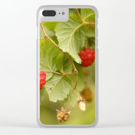 Sweet Raspberry Branches #decor #society6 Clear iPhone Case