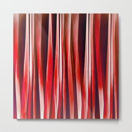 Impulsive Adventure Red Striped Abstract Pattern Metal Print