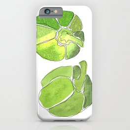 Green Bell Peppers iPhone Case