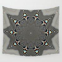 om Wall Tapestries featuring Full Om Mandala by Elias Zacarias