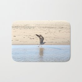 Seagull bird taking off Bath Mat