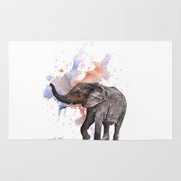 Dancing Elephant Painting Rug
