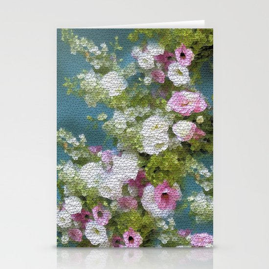 Mosaic Vintage Impressionism- Country Flower Love Joy Stationery Cards