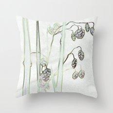 Trembling Grass 2 Throw Pillow