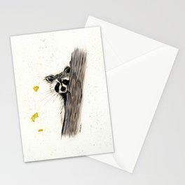 Rocky Raccoon - animal watercolor painting Stationery Cards