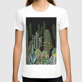 Cactus Garden at Night T-shirt