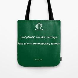 plants: dark green Tote Bag