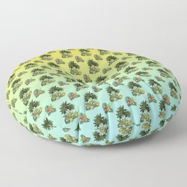 Oasis Palm Trees - Gradient Floor Pillow