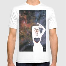 Love is infinite as the Cosmos Mens Fitted Tee White MEDIUM
