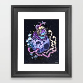 Space Toad Framed Art Print