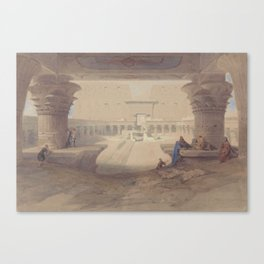 From Under the Portico of the Temple of Edfu, Upper Egypt by David Roberts, 1846 Canvas Print
