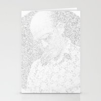 hunter s thompson Stationery Cards featuring [De]generated ArcFace - Hunter S. Thompson by ⊙ Paolo Tonon