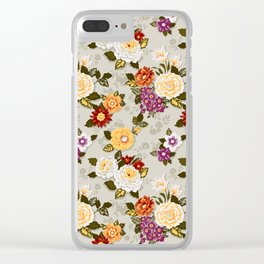 flowerily -grey Clear iPhone Case