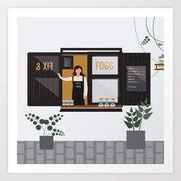 Fix and Fogg, Peanut Butter Window, Wellington, NZ Art Print
