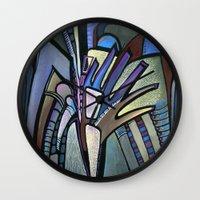 wings Wall Clocks featuring WINGS by Deyana Deco