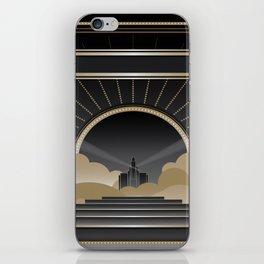 Art deco design V iPhone Skin