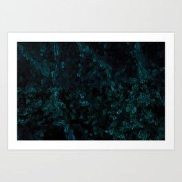 Stone Turquoise pattern Art Print