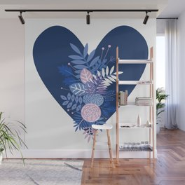 Feelings (Blue) Wall Mural