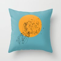 third eye Throw Pillows featuring Third Eye by Matt Smith