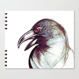 Crow and the Pitcher Canvas Print
