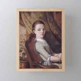 Gustave Courbet - Portrait de Juliette Courbet Framed Mini Art Print