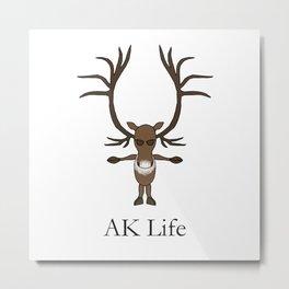 AK Life Caribou Metal Print