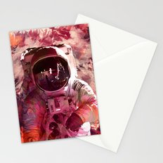 Watercolor Spaceman Stationery Cards