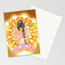 Boho Cultural Girl Stationery Cards