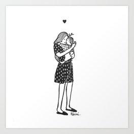 Bisou d'amour ! Art Print