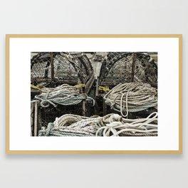 Lobster Traps Framed Art Print