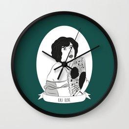 Lili Elbe Illustrated Portrait Wall Clock