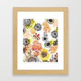 Autumn Florals Framed Art Print