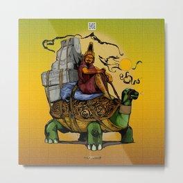 Tortoise Vagabond - Mystic Purveyor of Tales beyond the Desert Sands Metal Print