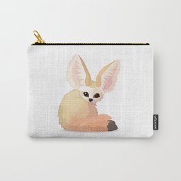 cute fennec foxes. Vector graphic character Carry-All Pouch