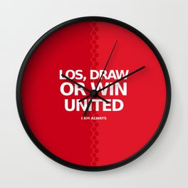 manchester united 9 Wall Clock
