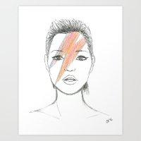 Moss X Bowie Art Print