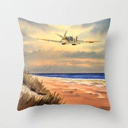 Supermarine Spitfire MK IX Aircraft Throw Pillow