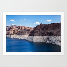 Hoover Dam II / Lake Mead Art Print