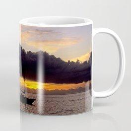 Tahiti Tropical Sunset over Sailboat Coffee Mug