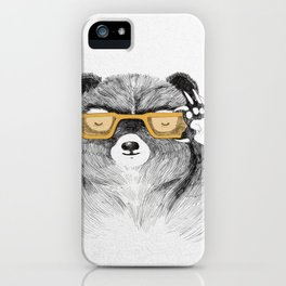 Hipster Bear iPhone Case
